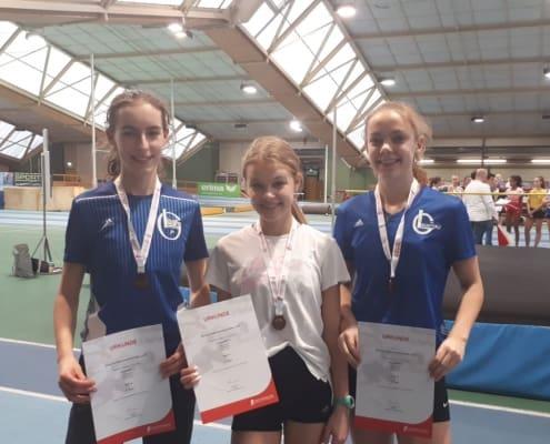 Die schnellen Bronze-Mädels: Maren, Anna und Sarah