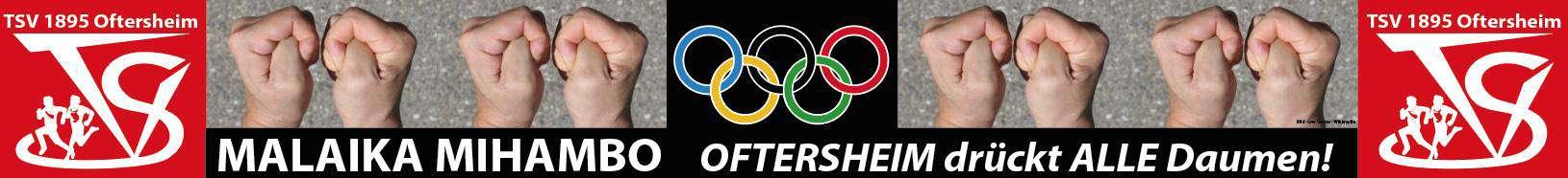 Olympische Spiele 2020 / Weltmeisterin Malaika Mihambo - TSV Oftersheim drückt die Daumen